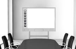 Interactive whiteboard Stock Photo