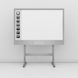 Interactive whiteboard Royalty Free Stock Images