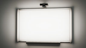 Interactive whiteboard with a multimedia projector 3d illustrati Stock Photos