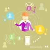 Interactivity concept Stock Photos