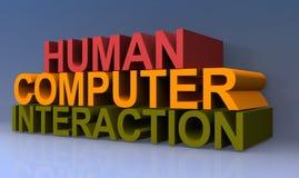 Interaktion des menschlichen Computers stock abbildung