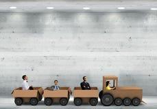 Interaktion im Geschäft Stockfoto