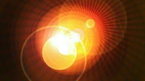 Interaktion von Strahlen in der Universumbeschaffenheit stock abbildung