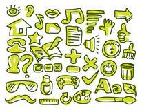 Interaktywna doodling ikona Obraz Royalty Free