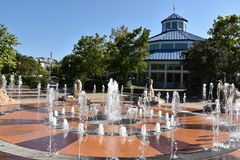 Interaktywna fontanna przy Coolidge parkiem w Chattanooga, Tennessee Fotografia Stock