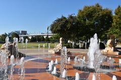 Interaktywna fontanna przy Coolidge parkiem w Chattanooga, Tennessee Zdjęcia Royalty Free