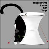 Interaktywna laser zabawka dla kotów i kot bawić się z laserem Zdjęcie Royalty Free