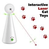Interaktywna laser zabawka dla kotów na białym tle Obraz Royalty Free