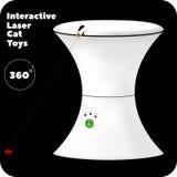 Interaktywna laser zabawka dla kotów z zielonym guzikiem i wskaźnikami Zdjęcia Royalty Free