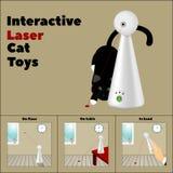 Interaktywna laser zabawka i opis swój zastosowanie w obrazkach Obraz Stock