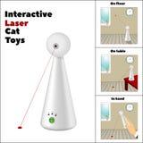 Interaktywna laser zabawka i opis swój zastosowanie w obrazkach na białym tle Fotografia Stock