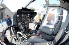 Interalpin 2011 - Heli Tirol - Cockpit Lizenzfreies Stockfoto
