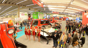 Interalpin 2011 stand Kässbohrer PistenBully Royalty Free Stock Images