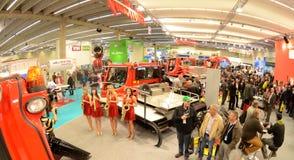 Interalpin 2011 Standplatz Kässbohrer PistenBully Lizenzfreie Stockbilder