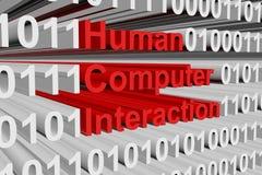 Interazione del computer umano Fotografia Stock Libera da Diritti