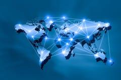 Interazione globale Immagini Stock