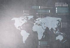 Interazione globale Immagine Stock