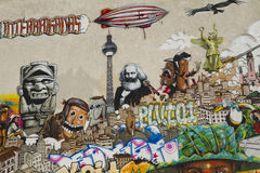 Interbrigadas van Graffiti Royalty-vrije Stock Fotografie