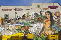 Interbrigadasoverzicht van Graffiti Stock Afbeelding
