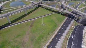 Intercambio aéreo 3 de la carretera almacen de metraje de vídeo