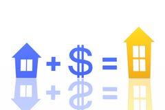 Intercambio de casas stock de ilustración