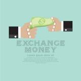 Intercambio de dinero. ilustración del vector