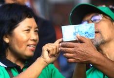 Intercambio de dinero Fotografía de archivo