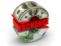 Intercambio de dinero en circulación. ilustración del vector