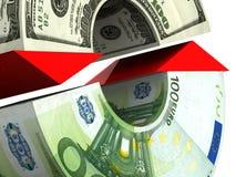 Intercambio de dinero en circulación ilustración del vector