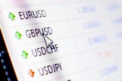 Intercambio de dinero en circulación Fotografía de archivo libre de regalías