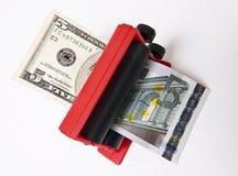 Intercambio de dinero en circulación Fotografía de archivo