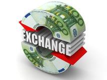 Intercambio de dinero en circulación. Euro libre illustration