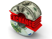 Intercambio de dinero en circulación. Euro Fotos de archivo libres de regalías
