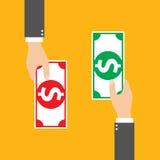 Intercambio de dinero, vector Imagen de archivo
