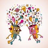 Intercambio de ideas Imágenes de archivo libres de regalías