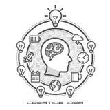Intercambio de ideas como infographics en iconos Fotografía de archivo