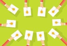 Intercambio de ideas del negocio comparta la idea de trabajar Negocio creativo Foto de archivo libre de regalías