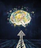 Intercambio de ideas y concepto de la innovación Imagen de archivo libre de regalías