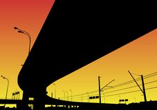 Intercambio de la autopista sin peaje Foto de archivo
