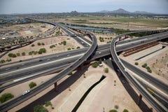 Intercambio de la autopista sin peaje Imagenes de archivo