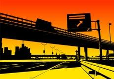 Intercambio de la autopista sin peaje Fotos de archivo