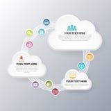 Intercambio de la red de la nube stock de ilustración
