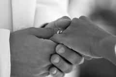 Intercambio del anillo Imagen de archivo libre de regalías
