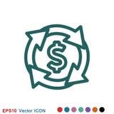 Intercambio e icono del convertido Logotipo, ejemplo, s?mbolo de la muestra del vector stock de ilustración