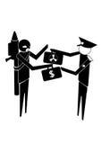 Intercambio ilegal Imagen de archivo libre de regalías
