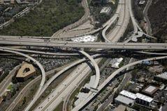 Intercambio meridional de la autopista sin peaje de California Foto de archivo