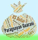 Intercambio Rate And Banknote de las demostraciones de Guarani del paraguayo libre illustration