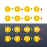 Intercambio Rate Icons Foto de archivo libre de regalías