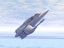 Interceptor bajo de la órbita que sale de la atmósfera stock de ilustración
