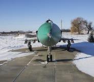 Interceptor supersónico SU-15 en museo de la aviación Fotografía de archivo